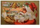Anonymus  -  Kerstman bekijkt lijst met kindernamen - Postkaart -  A118367-1