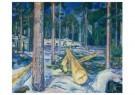 Edvard Munch (1863-1944)  -  De gele boomstam, 1912 - Postkaart -  A11901-1