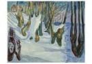 Edvard Munch (1863-1944)  -  Bomen zich aftekenend tegen de sneeuw, 1923 - Postkaart -  A11905-1