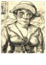 Wilhelm Lachnit (1899-1962)  -  Kamerverhuurster, ca.1924 - Postkaart -  A11909-1