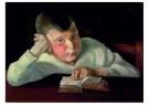Wilhelm Lachnit (1899-1962)  -  Lezende jongen, 1924 - Postkaart -  A11910-1