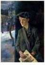 Conrad Felixmuller (1897-1977) -  Krantenjongen, 1928 - Postkaart -  A11912-1