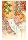 Anonymus  -  Kerstelf loopt op het bed van een slapend kind - Postkaart -  A119153-1
