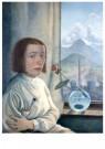 Erika Streit (1910-2011)  -  Zelfportret met bolvaas, 1923 - Postkaart -  A11920-1