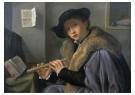 Girolamo Savoldo(1480/85-1548) -  Portret van een jonge man met fluit, ca.1525 - Postkaart -  A11952-1