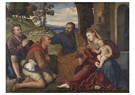 Bernadino Licinio(1489-1565)  -  Aanbidding van de herders, ca 1530 - Postkaart -  A11964-1