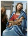 Bramantino(ca.1456-ca.1530)  -  Maria met kind en de heilige Jozef Heilige familie, ca.1515 - Postkaart -  A11965-1