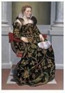 Giovan Battista Moroni(1522-79 -  Portret van Isotta Brembati, ca 1552-1553 - Postkaart -  A11969-1