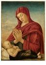 Giovanni Bellini(1433-1516)  -  Maria in adoratie voor het slapende Christuskind - Postkaart -  A11971-1