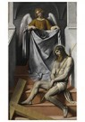 Il Moretto da Brescia1498-1554 -  Lijdende Christus met een engel, ca.1550 - Postkaart -  A11983-1