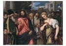 Polidoro da Lanciano(1540-1545 -  Christus en de overspelige vrouw, 1540-1545 - Postkaart -  A11986-1