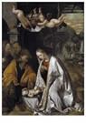 Romanino (ca.1485 - ca.1540/41 -  Adoratie van het Christuskind, ca.1545 - Postkaart -  A11990-1