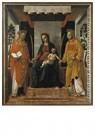 Vincenzo Foppa (c.1427-c.1515) -  Tronende Maria met de heiligen Faustinu en Jovita, ca.1501- - Postkaart -  A11996-1