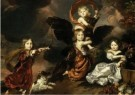 Nicolaes Maes (1634-1693)  -  Portret van vier kinderen als mythologisch - Postkaart -  A12018-1