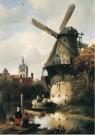 Antonie Waldorp (1803-1866)  -  Molen met gezicht op Delft, 1836 - Postkaart -  A12025-1