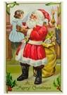 Anonymus  -  Kerstman houdt meisje in zijn handen vast - Postkaart -  A120286-1
