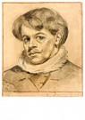Theo van Doesburg (1883-1931)  -  Zelfportret met witte kraag, 1905 - Postkaart -  A120327-1