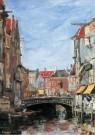 Eugène Boudin (1824-1898)  -  La Place Ary Scheffer, Dordrecht, 1884 - Postkaart -  A12032-1