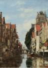 Eugène Boudin (1824-1898)  -  Gezicht in de Voorstraathaven te Dordrecht, 1884 - Postkaart -  A12033-1