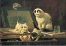 H. Ronner-Knip (1821-1909)  -  De teekenaars - Postkaart -  A12041-1