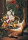 Joris  Ponse (1723-1783)  -  Bloemstilleven met dode haas - Postkaart -  A12047-1