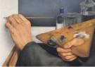 Edgar Fernhout (1912-1974)  -  Schilderende handen, 1930 - Postkaart -  A12061-1