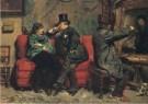 David Oyens (1842-1902)  -  Bezoek op het atelier, 1883 - Postkaart -  A12063-1