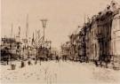 Otto Dicke (1918-1984)  -  Gezicht op de Hooikade te Dordrecht, 1968 - Postkaart -  A12069-1