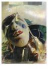 Paul Hartland (1910-1991)  -  Carnaval (Compositie met twee maskers) - Postkaart -  A12083-1