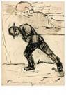 Theo van Doesburg (1883-1931)  -  Man die boot trekt, 1903 - Postkaart -  A121222-1