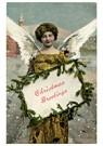 Anonymus  -  Kerstengel brengt een kerstgroet - Postkaart -  A122440-1