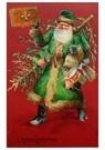 Anonymus  -  Kerstman met een boek en cadeaus in zijn handen - Postkaart -  A122569-1