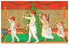 Anonymus  -  Kinderen lopen met kaarsen bij de kerstboom - Postkaart -  A123734-1