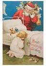 Anonymus  -  Kerstman komt kinderkamer binnen met cadeaus - Postkaart -  A123853-1