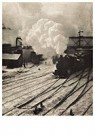 Alfred Stieglitz(1864-1946)  -  Momentopname in de New York Central Yards - Postkaart -  A12453-1