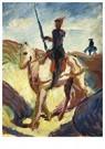 August Macke (1887-1914)  -  Don Quichot - Postkaart -  A12625-1