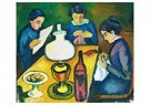August Macke (1887-1914)  -  Drei Frauen Am Tisch Bei Der Lampe (Three Women At The Table - Postkaart -  A12626-1