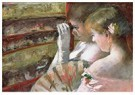 Mary Cassatt (1844-1926)  -  In The Box - Postkaart -  A12995-1