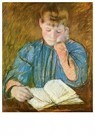 Mary Cassatt (1844-1926)  -  The Pensive Reader - Postkaart -  A13025-1