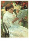 Mary Cassatt (1844-1926)  -  Woman Reading In A Garden - Postkaart -  A13027-1