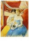 Mary Cassatt (1844-1926)  -  The Loge - Postkaart -  A13040-1