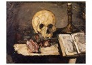 Paul Cézanne (1839-1906)  -  Still Life With Skull And Candlestick - Postkaart -  A13066-1