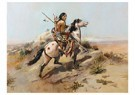 Charles Marion Russell(1864-26 -  Indian Scout On Horseback - Postkaart -  A13332-1