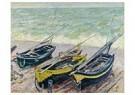 Claude Monet (1840-1926)  -  Bateaux Sur Le Galet - Postkaart -  A13416-1