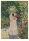 Claude Monet (1840-1926) - Camille À L'Ombrelle Verte - Postkaart - A13418-1