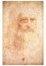 Leonardo da Vinci (1452-1519)  -  Self Portrait - Postkaart -  A13515-1