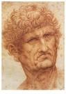 Leonardo da Vinci (1452-1519)  -  Head Of A Man, 1503 - Postkaart -  A13522-1