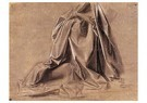 Leonardo da Vinci (1452-1519)  -  Garment Study For A Seated Figure, - Postkaart -  A13529-1