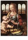 Leonardo da Vinci (1452-1519)  -  The Madonna Of The Carnation, 1480 - Postkaart -  A13534-1