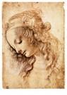 Leonardo da Vinci (1452-1519)  -  Woman'S Head, 1473 - Postkaart -  A13541-1